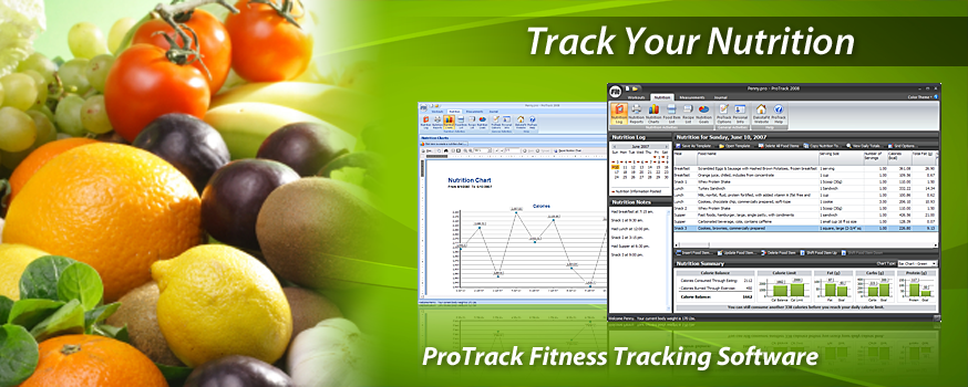 ProTrack Fitness Software - Tracking Nutrition